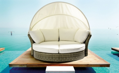 Lesly Daybed σε Φυσικό Χρώμα με Μαξιλάρια
